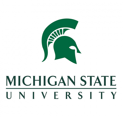 Logo for Michigan State University - spartan helmet profile