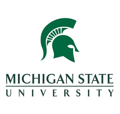 Logo for Michigan State University - spartan helmet profile