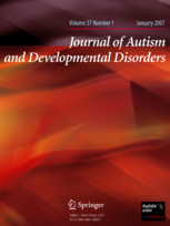 Cover of the Journal of Autism and Developmental Disorder - shades of red in waves